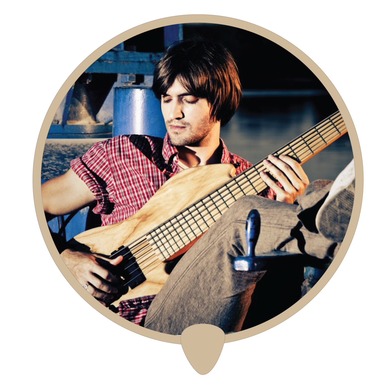 Bass man icon - Learn bass. Bass lessons, classes and teachers in Sydney City.