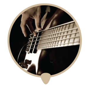 Bass left icon - Learn bass. Bass lessons, classes and teachers in Sydney City.