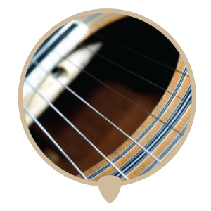Guitar hole icon - Learn guitar. Guitar lessons, classes and teachers in Sydney.